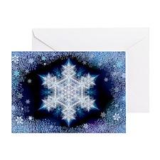 Snowflake Calendar - January Greeting Card