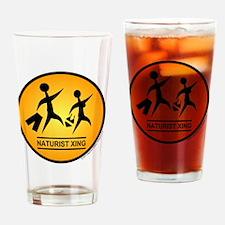Naturist Xing Shirt Drinking Glass