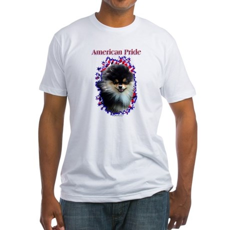 Pomeranian Pride Fitted T-Shirt