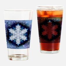 Snowflake Calendar - January - squa Drinking Glass