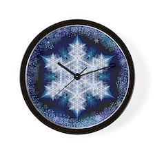Snowflake Calendar - January - square Wall Clock