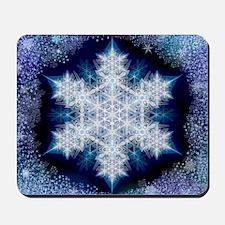 Snowflake Calendar - January - square Mousepad