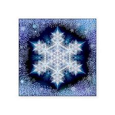"Snowflake Calendar - Januar Square Sticker 3"" x 3"""