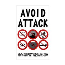 Avoid Attack Black Decal