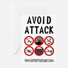 Avoid Attack Black Greeting Card