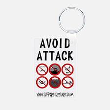 Avoid Attack Black Keychains