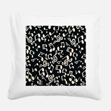 music note Square Canvas Pillow