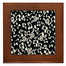 music note Framed Tile