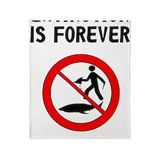 Extinction is forever Throw Blanket