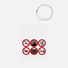 Avoid Attack White Keychains