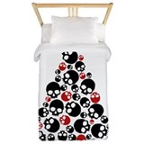 Black red skull Twin Duvet Covers