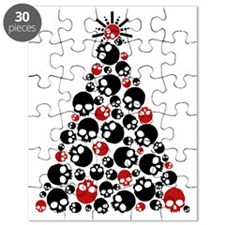 Gothic Skull Holiday Tree Puzzle