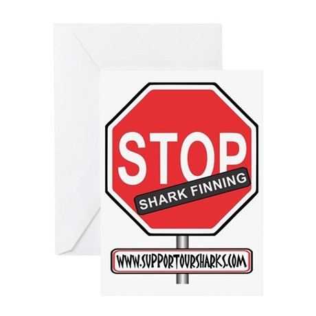 Stop Finning Greeting Card