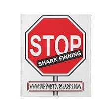 Stop Finning Throw Blanket