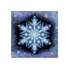 "Snowflake Calendar - Februa Square Sticker 3"" x 3"""