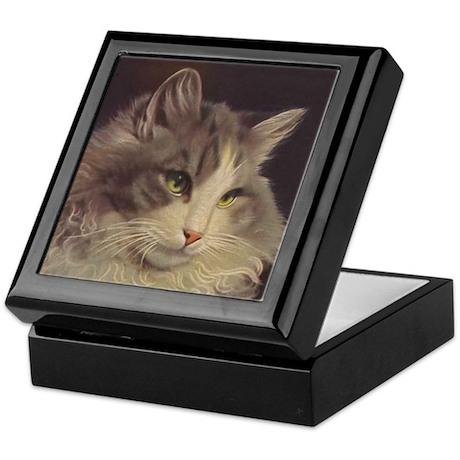 Green Eyed Cat Jewelry Box