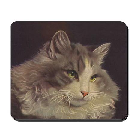 Green Eyed Cat Mousepad
