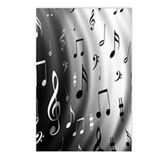 music notes Postcards (Package of 8)