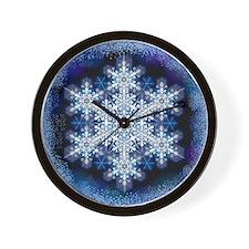 Snowflake Calendar - March - square Wall Clock