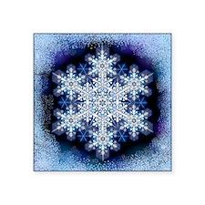 """Snowflake Calendar - March  Square Sticker 3"""" x 3"""""""