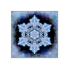 "Snowflake Calendar - April  Square Sticker 3"" x 3"""
