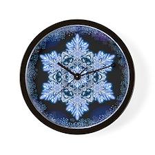 Snowflake Calendar - April - square Wall Clock