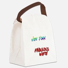 Fabulous Wife NY for dark Canvas Lunch Bag