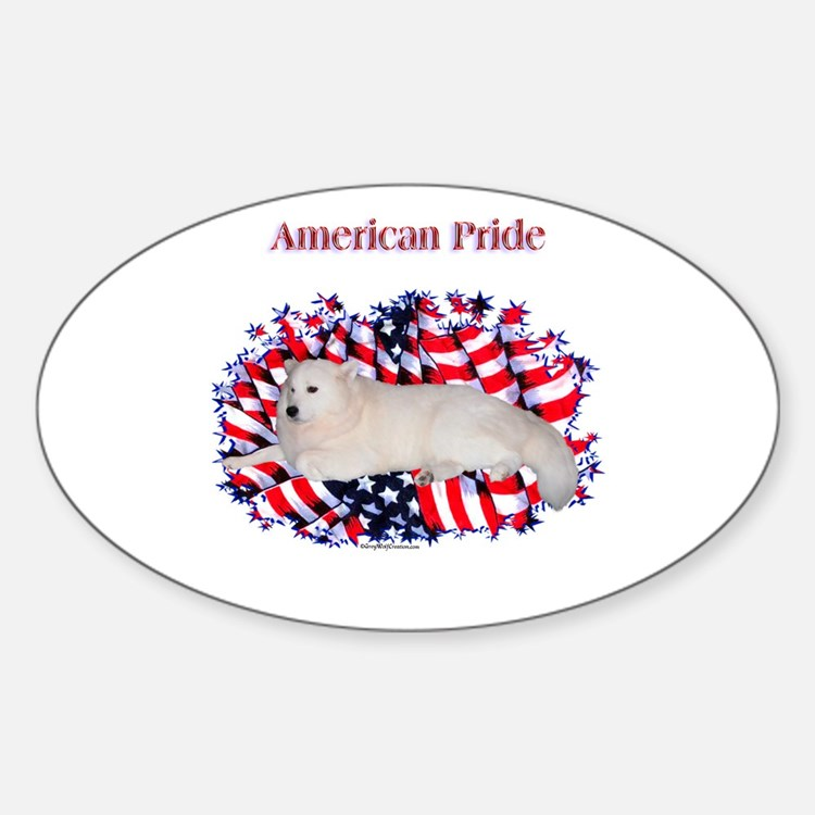 Samoyed Pride Oval Decal