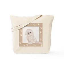 Cockapoo Paw Prints Tote Bag