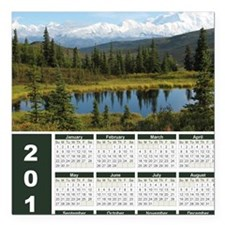 "Denali 2012 Year At A Gl Square Car Magnet 3"" x 3"""