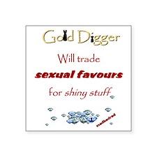 "GoldDigger Shiny Stuff 6000 Square Sticker 3"" x 3"""