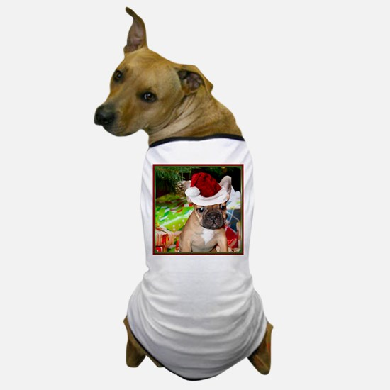 christmas French bulldog 4a Dog T-Shirt