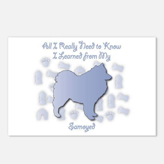 Learned Samoyed Postcards (Package of 8)