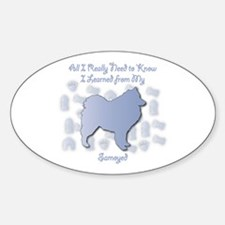 Learned Samoyed Oval Decal