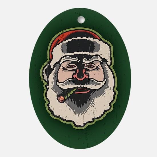 smokin-santa-STKR Oval Ornament