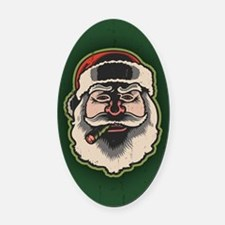 smokin-santa-STKR Oval Car Magnet