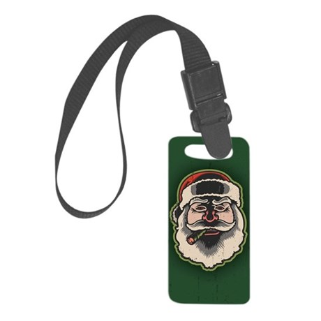 smokin-santa-STKR Small Luggage Tag