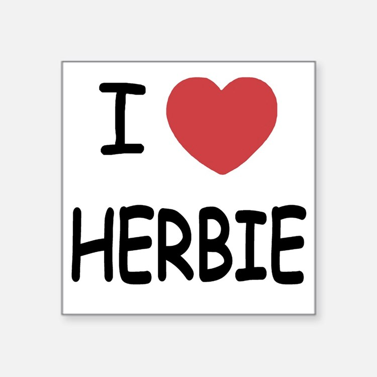 "HERBIE Square Sticker 3"" x 3"""