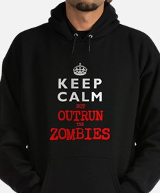 KEEP CALM but OUTRUN the ZOMBIES Hoodie (dark)