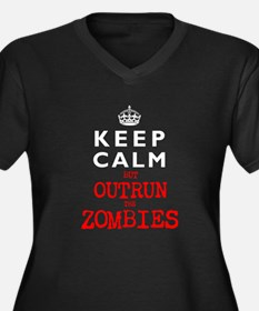 KEEP CALM but OUTRUN the ZOMBIES Women's Plus Size