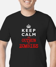 KEEP CALM but OUTRUN the ZOMBIES T