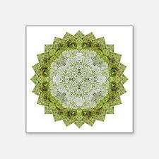 "Green Man Yoga Mandala Shir Square Sticker 3"" x 3"""