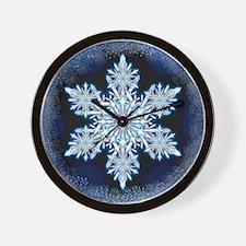 Snowflake Calendar - May - square Wall Clock