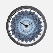 Blue Star Kachina Yoga Mandala Shirt Wall Clock