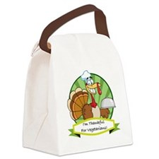 thanksgiving vegetarian Canvas Lunch Bag