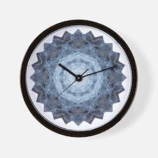 Blue Star Kachina Yoga Mandala Shirt Wall Clock