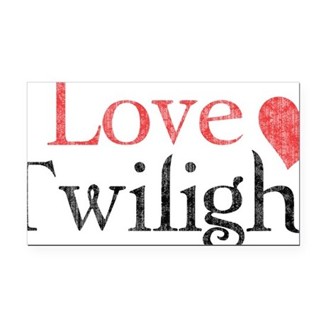 I Love Twilight 2 Rectangle Car Magnet