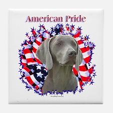 Weimaraner Pride Tile Coaster