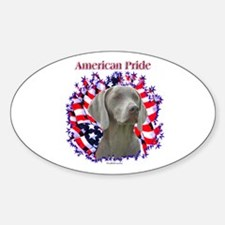 Weimaraner Pride Oval Decal