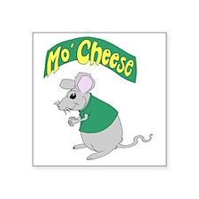 "MoCheese_green_V1 Square Sticker 3"" x 3"""